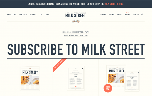 milk street subscribe