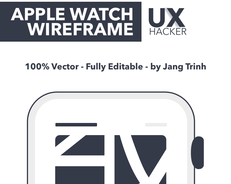 [Freebies] 17 Apple Watch Wireframe screen (100% Vector, Fully Editable Sketch files) for Free. By UX Hacker !!!