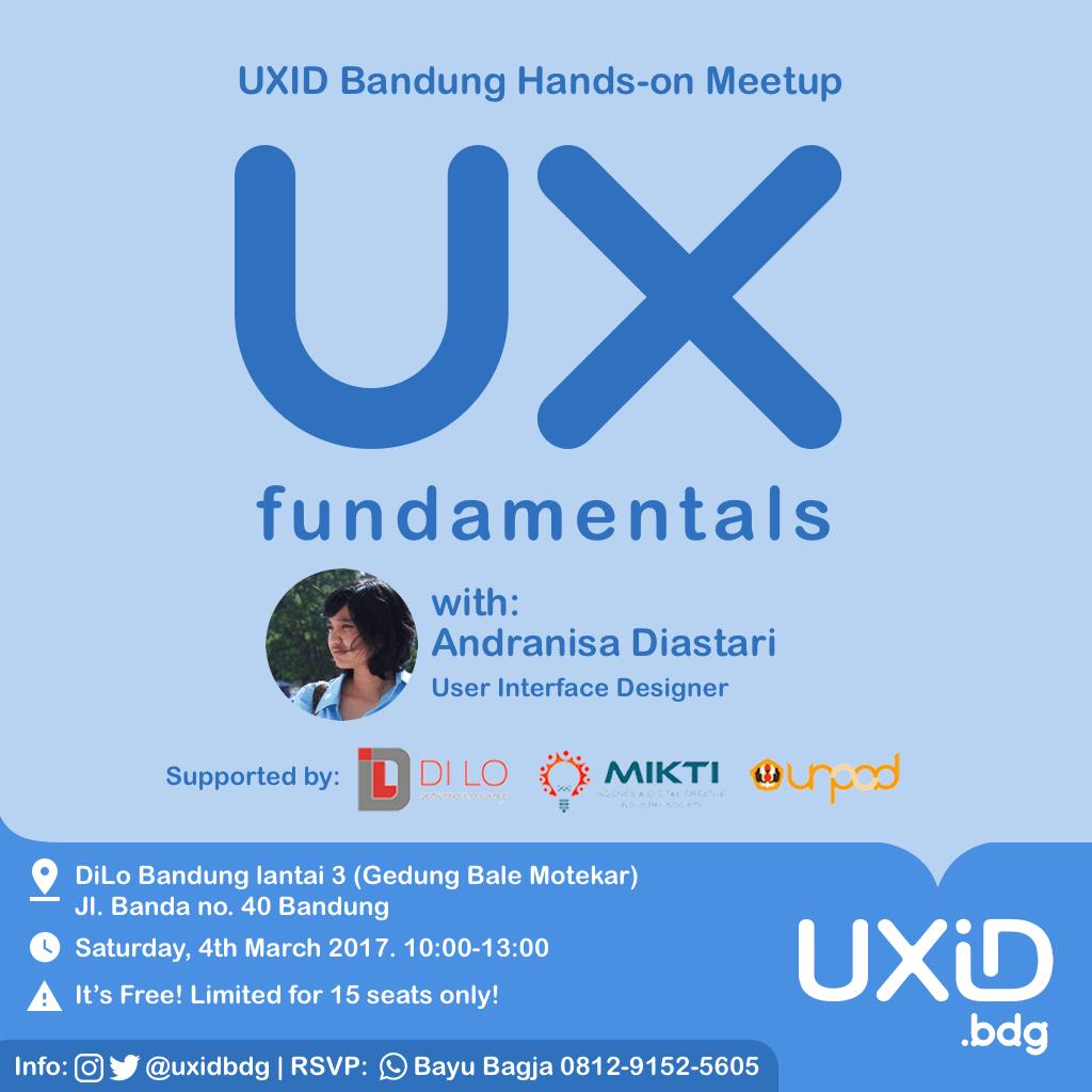 UXID Bandung Meetup: UX Fundamentals
