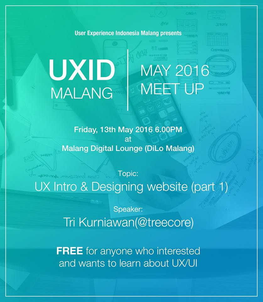UXID Malang – UX Intro And Web Design – 2016 Mei