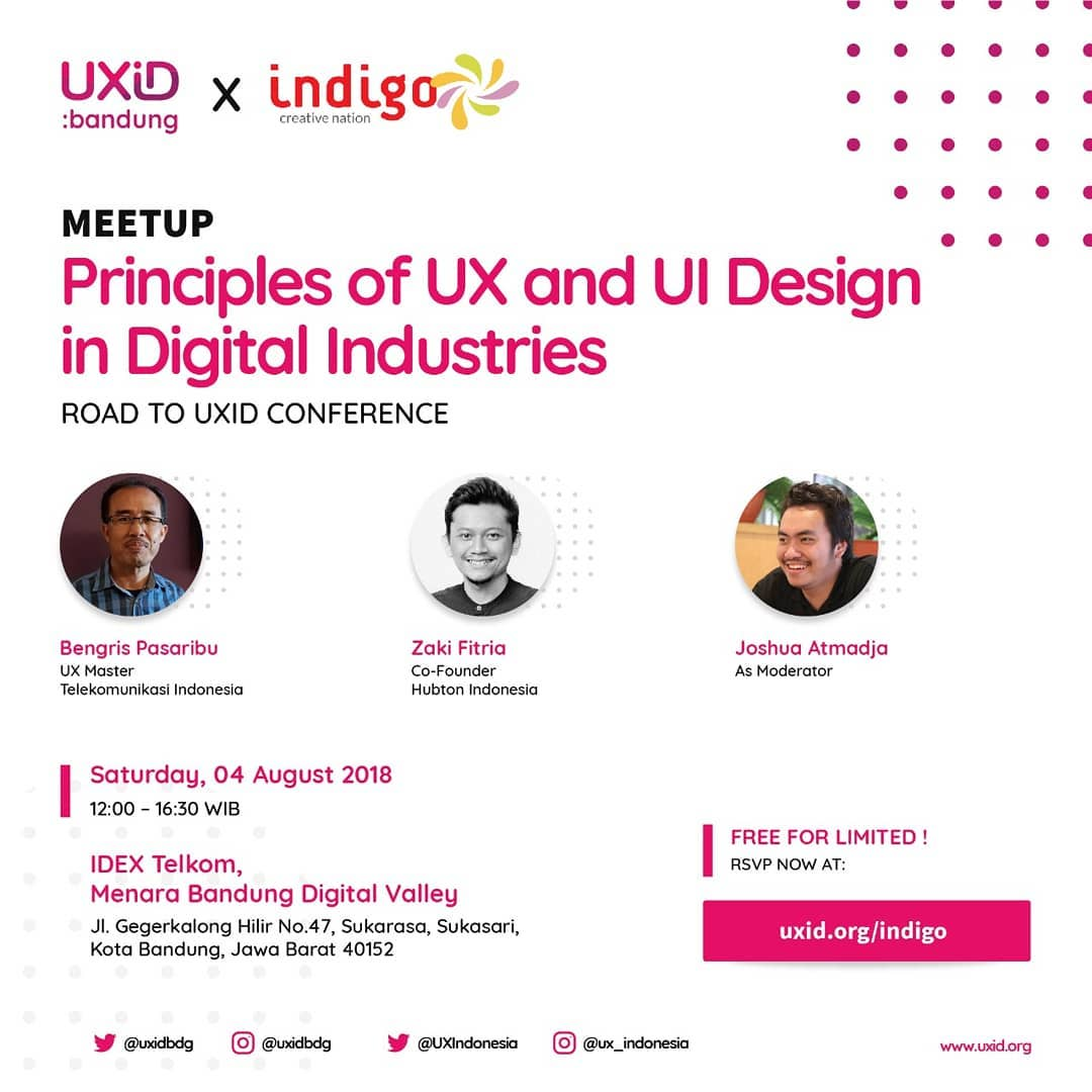 UXID 2018 Conference Roadshow Bandung: Principle of UX and UI Design in Digital Industries