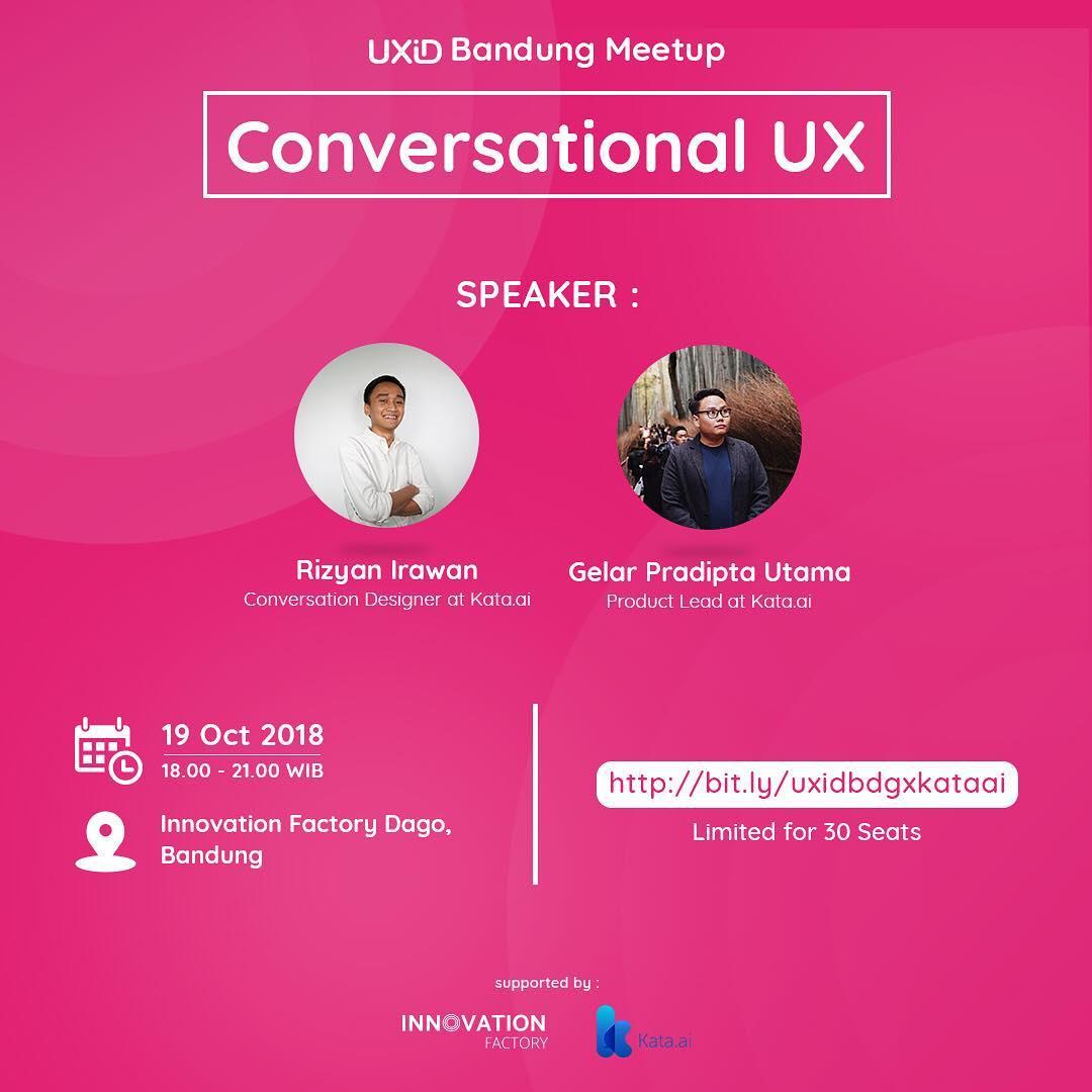 Conversational UX – UXID And Kata Ai