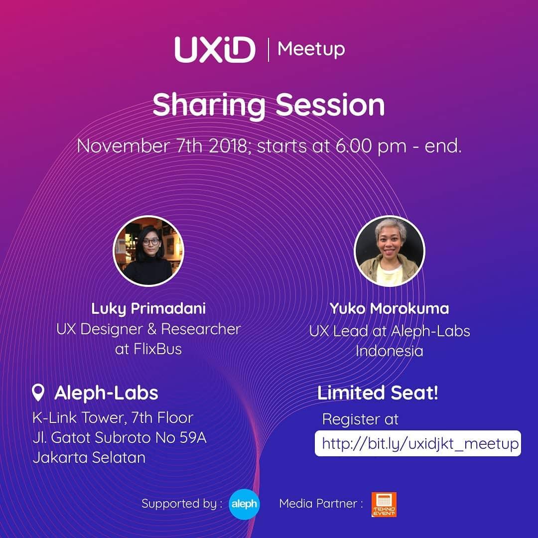 UXID Jakarta Meetup – November 2018