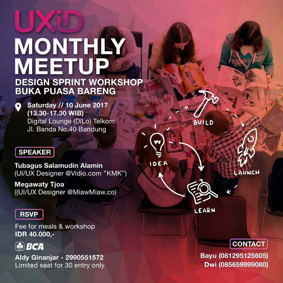 UXID Bandung Meetup – Juni 2017: Design Sprint Workshop