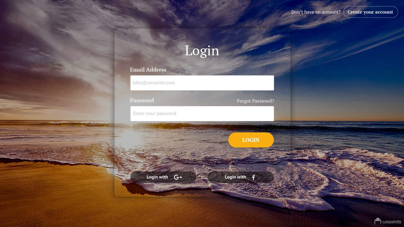 Five Login Page Design Ideas that Can Impress Your Users – uxsaints