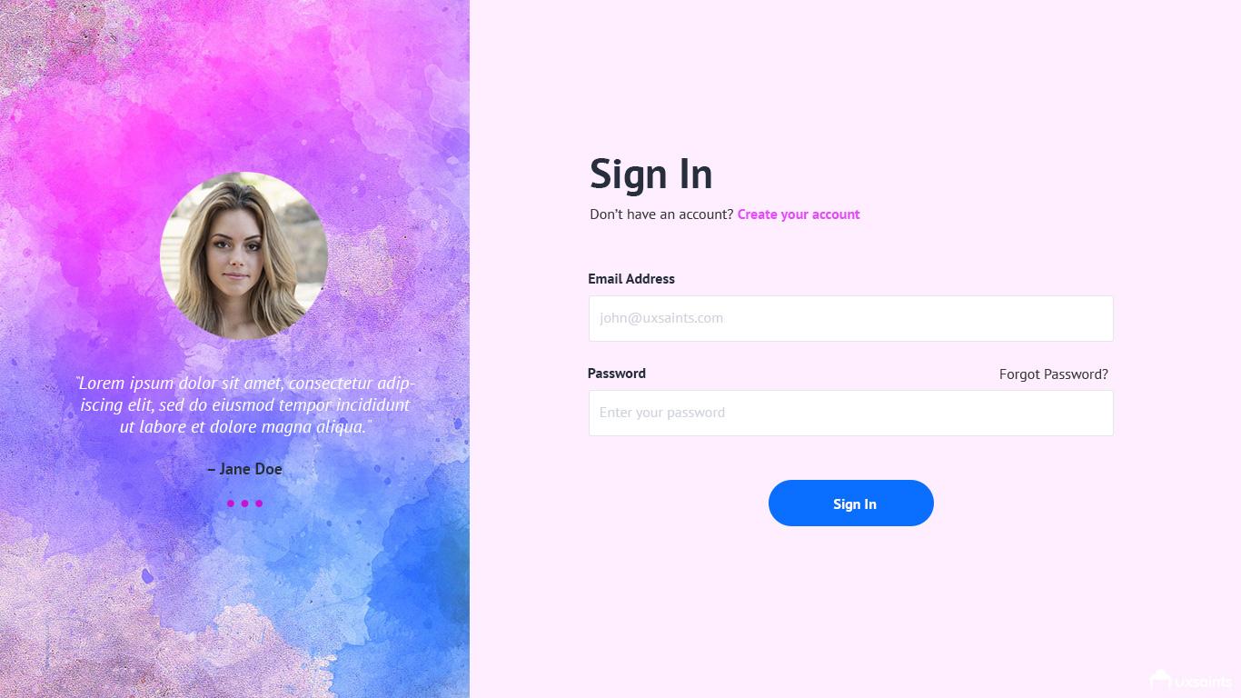 login-page-design
