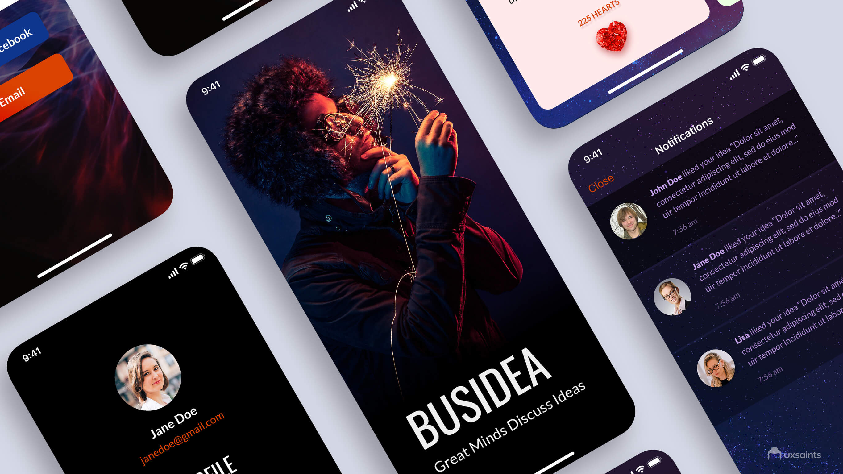 iPhoneX app design