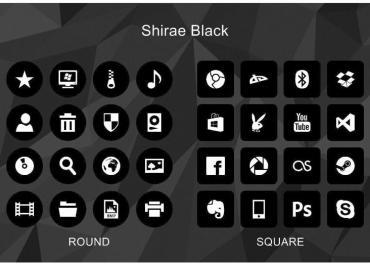 Shirae Black Icon