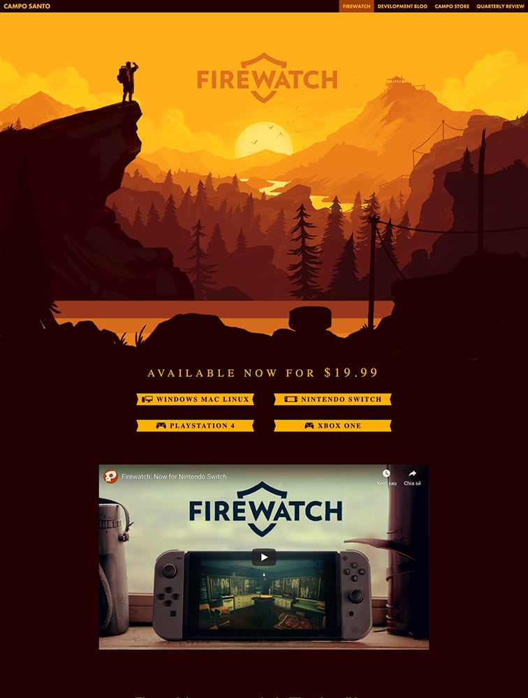 Firewatch game Ui Inspiration