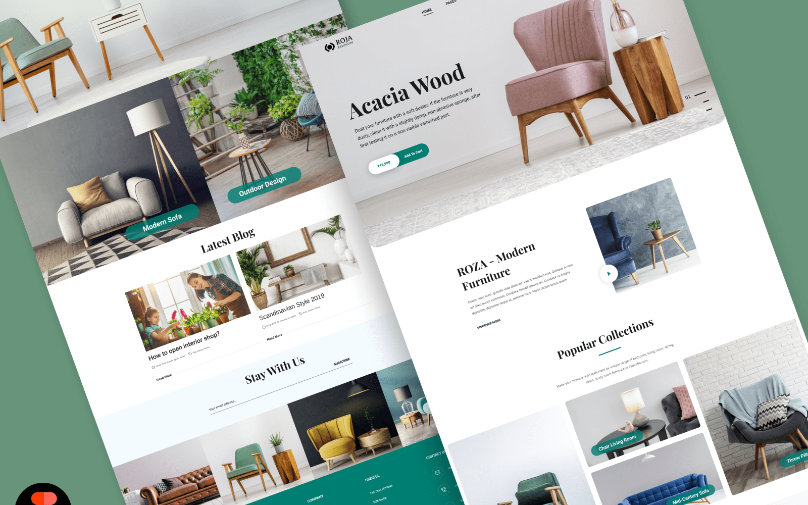 Furniture website design UI Concept Ui Inspiration