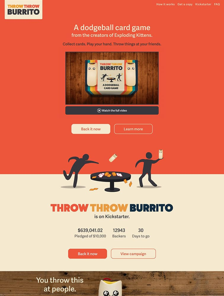 Throw Burrito Ui Inspiration