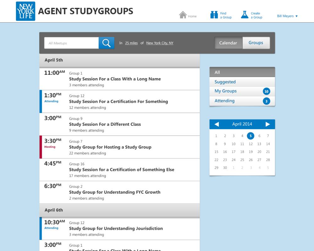 Agent Meetup Calendar