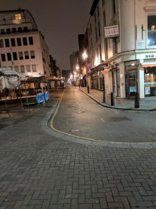 A deserted street in Farringdon