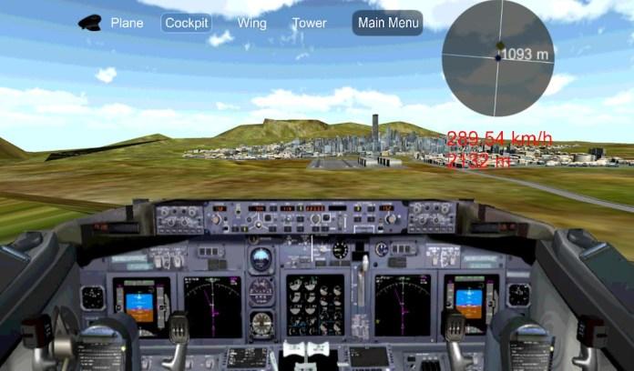 airplane pilot flight simulator