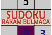 sudoku rakam bulmaca