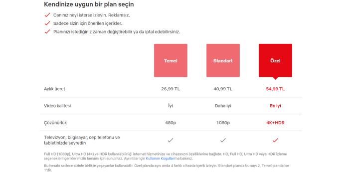 netflix turkiye yeni uyelik planlari