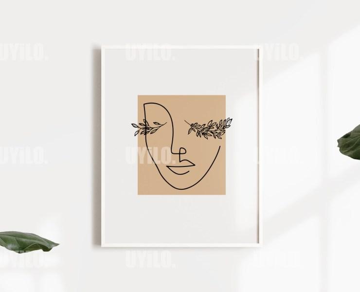 Abstract Woman Face Line Art , Line art, Hand drawing print, Print, Printable Wall Art, Poster, Print, Art Print