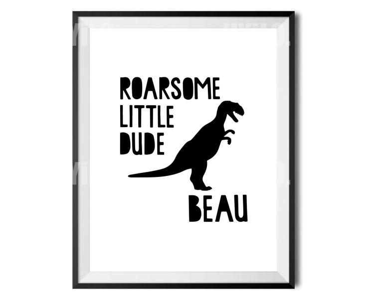 Dinosaur Nursery Wall Art, Wall Decoration, Poster, Digital Download