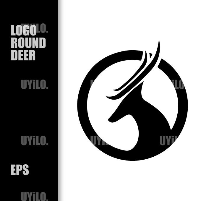 Logo Round Deer, Sketch