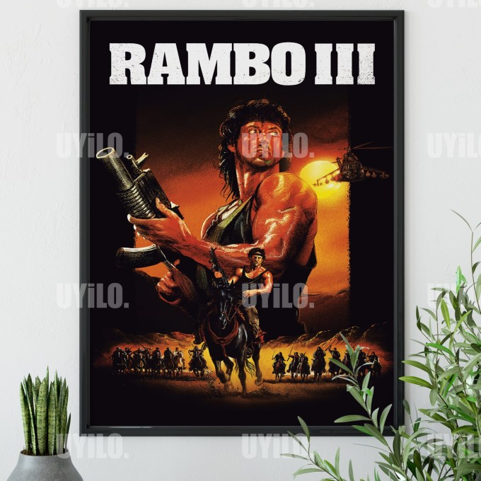 Rambo III 1988 Poster, Sylvester Stallone, Movie Poster, Print