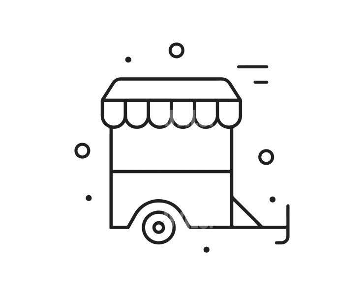 Food Trolley Instant download in several files for Logo or Label