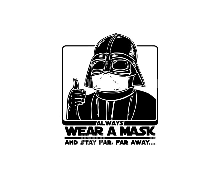 Darth Vader Always Wear A Mask Instant Download in several files
