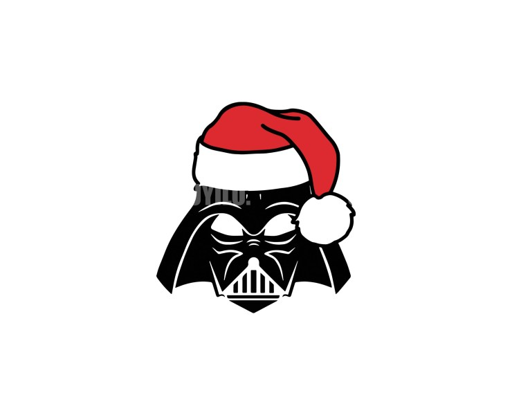 Darth Vader Santa Claus Instant Download in several files