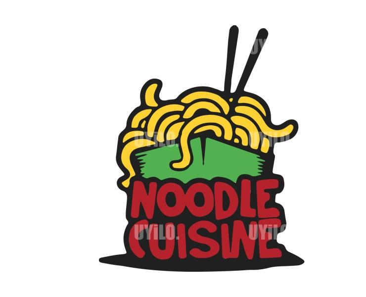 Illustration Logo Noodle Cuisine