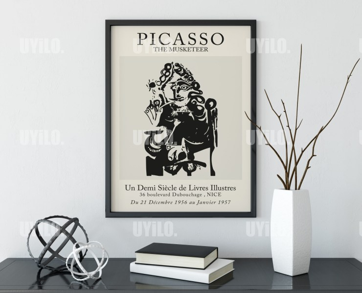 Picasso Exhibition The Musketeer Wall Art Print
