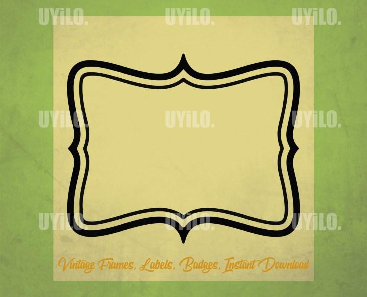 Vintage Frames 8, Labels, Badges, Instant Download