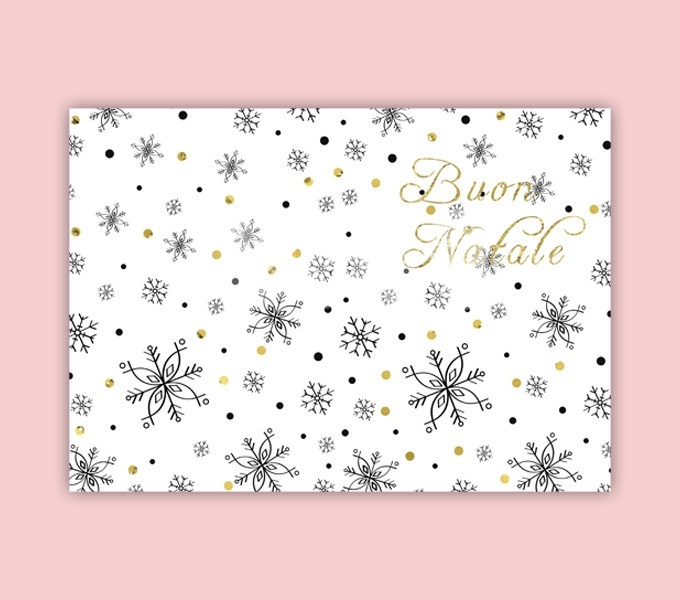 Christmas Card Template Ready to Print in Italian