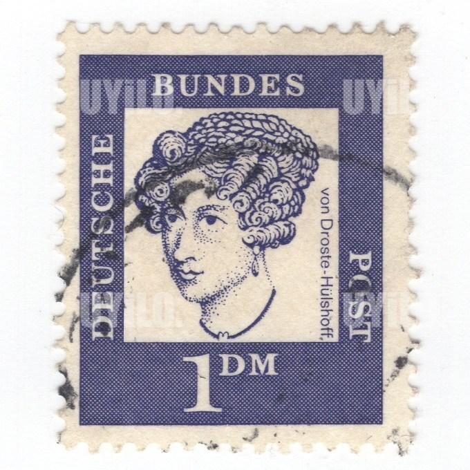 Postage Stamp 1 Deutsche Bundes Post Von Droste Huelshoff