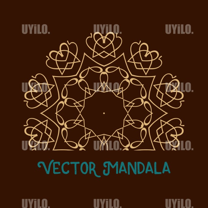Vector Mandala 18, Instant Download