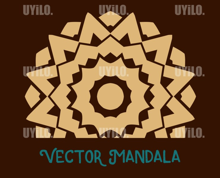 Vector Mandala 68, Instant Download