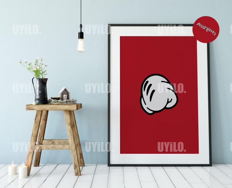Mickey Hands 13, Digital Download, Wall Art Print
