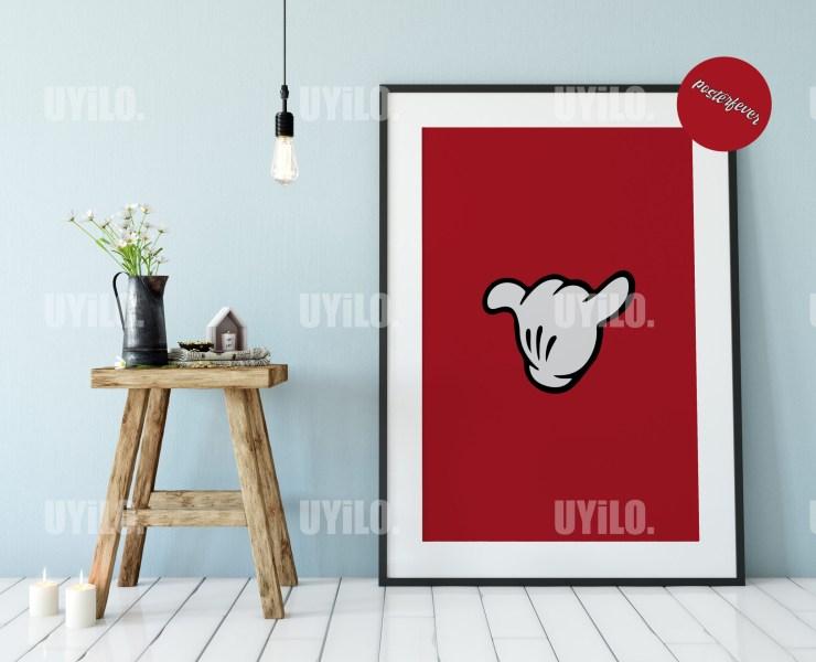 Mickey Hands 7, Digital Download, Wall Art Print