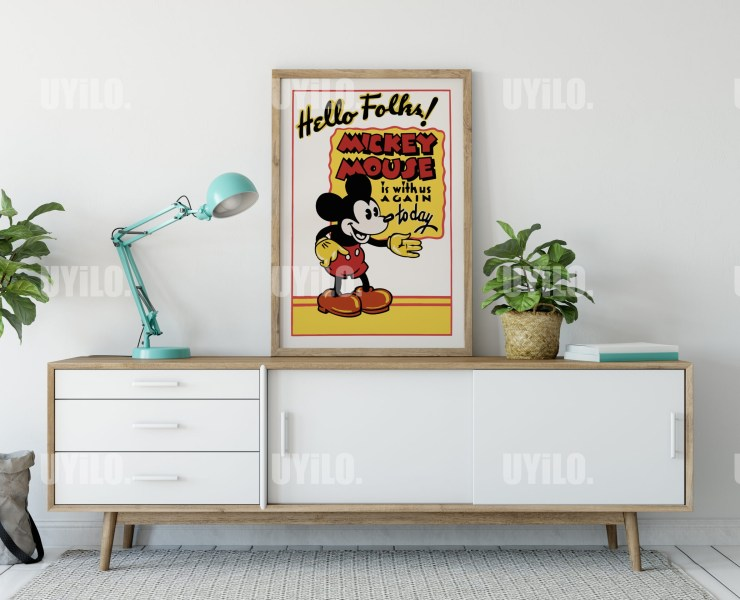 Mickey Mouse Poster, 1930s, US, Wall Decoration, Digital