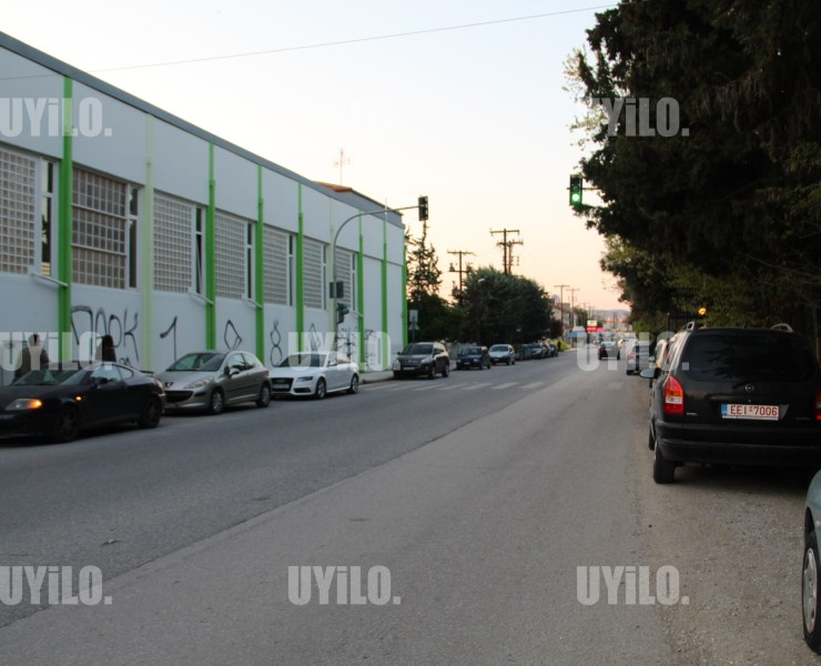 Road with Cars in the Area of Pavlos Melas Thessaloniki, Greece