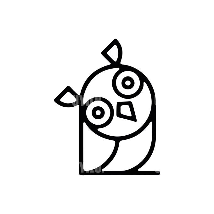 Owl Logo -10 Animals
