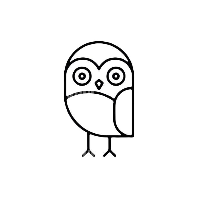 Owl Minimal Logo