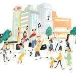 産業・観光ビジョン みらいマップ 原宿歩行者天国 / Client 渋谷区