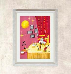 Giclee Art Print - Corgi's Band Image