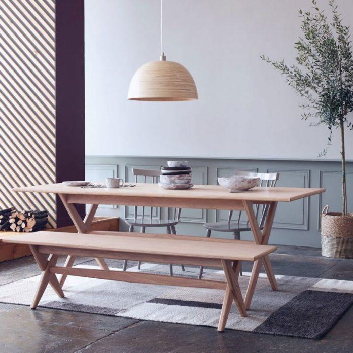 обеденный стол скамья, домашний уют фото