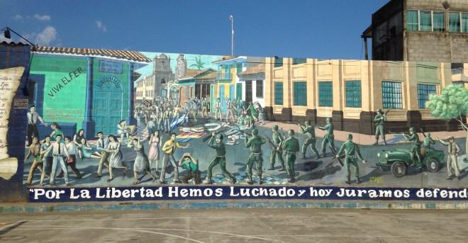 Dervim sırasındaki olayları anlatan duvar.