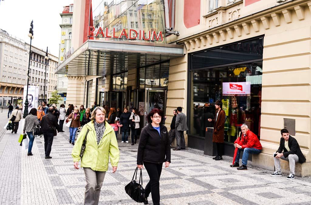 Прага. Торговый дом «Palladium»