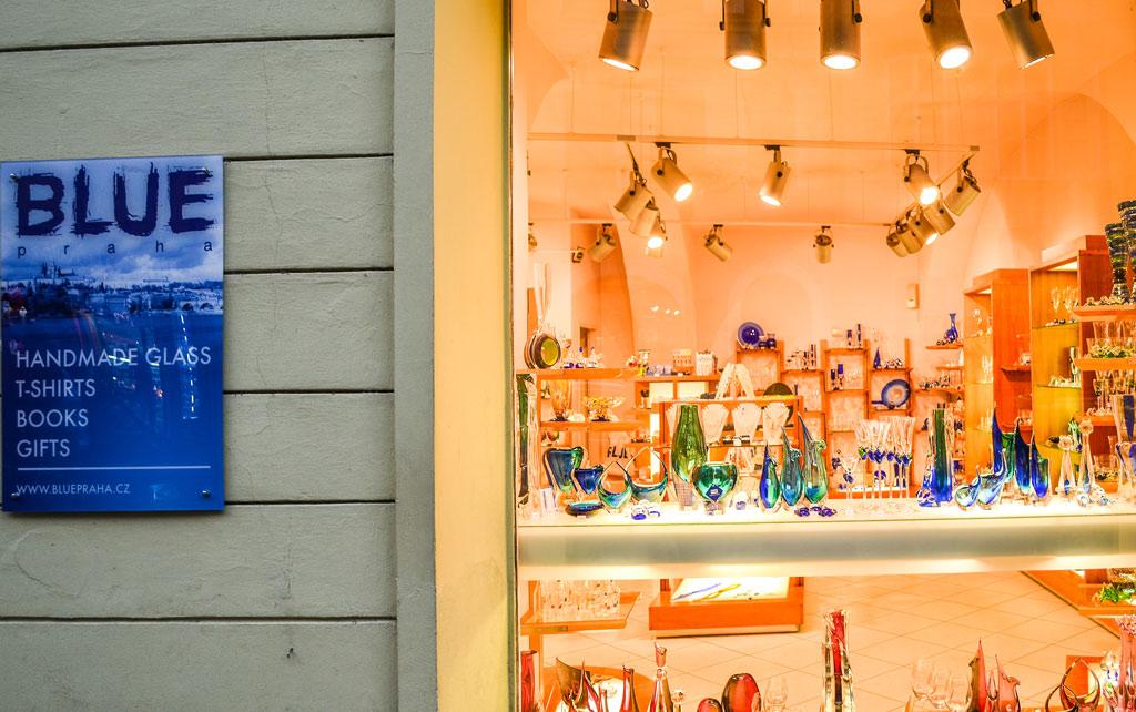 Прага. Магазин «Blue Praha» на Mostecká 42/24