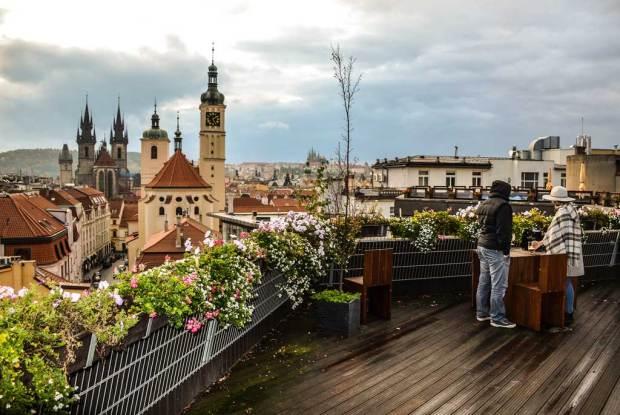 Прага. Restaurace «Sluneční terasa T-Anker»