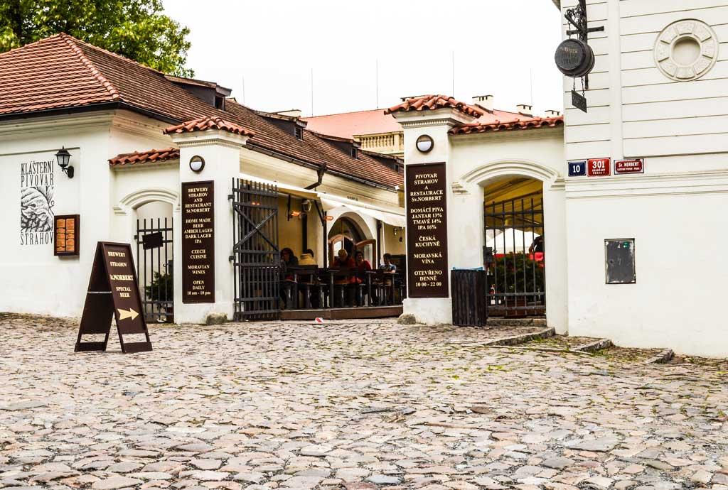 Страговский монастырь. Ресторан «Klášterní pivovar Strahov»