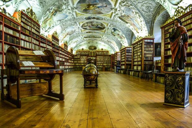 Страговский монастырь. Теологический зал монастырской библиотеки