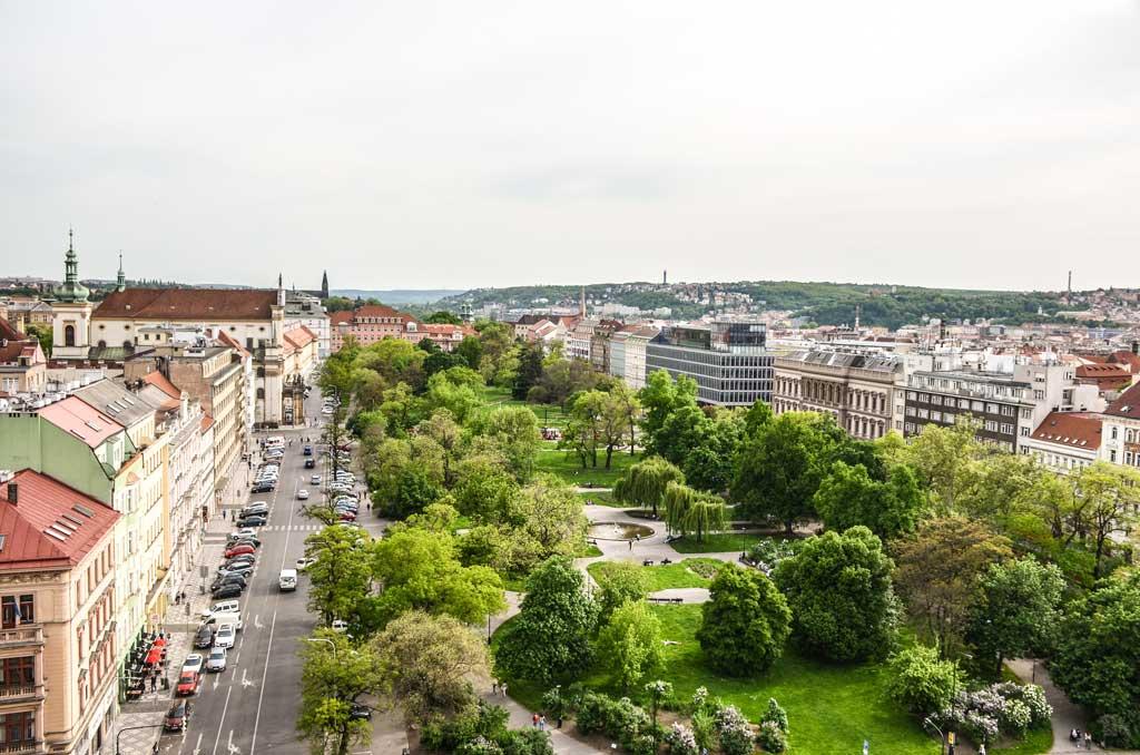 Прага. Вид на Карлову площадь с Новоместской ратуши